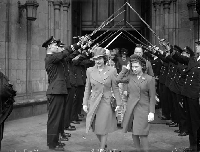Queen Elizabeth II (then Princess Elizabeth) with her sister Princess Margaret in 1944. *Image: Getty Images.*