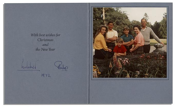 This card from 1972 shows the Queen signed it using her nickname Lilibet, a name only used with her close friends and family.