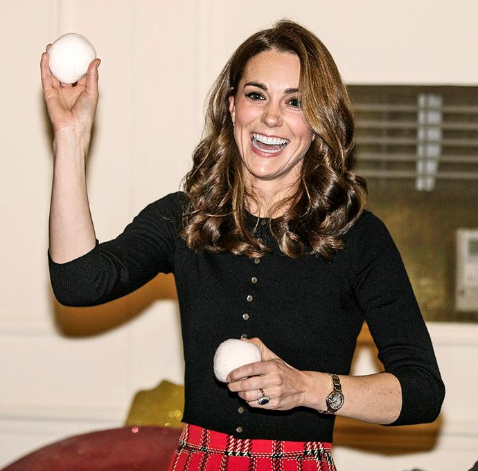 Kate was all smiles at Kensington Palace despite the alleged drama.