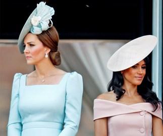Duchess Catherine and Duchess Meghan avoiding eye contact