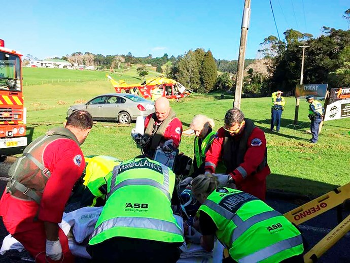 It was all hands on deck as emergency workers rushed to save George Scott's life