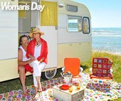The Block NZ winners Amy Moore and Stu Watts' Caravan Christmas escape