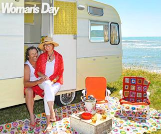 The Block NZ winners Amy Moore and Stu Watts' Caravan Christmas escape