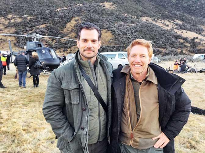 "Phil on location in New Zealand with *Mission: Impossible – Fallout* co-star [Henry Cavill](https://www.nowtolove.co.nz/tags/henry-cavill|target=""_blank"")."