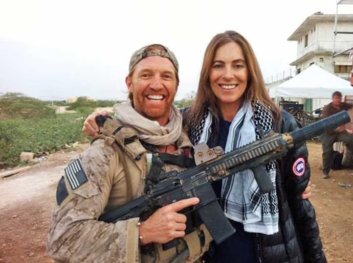 With *Zero Dark Thirty* director Kathryn Bigelow.