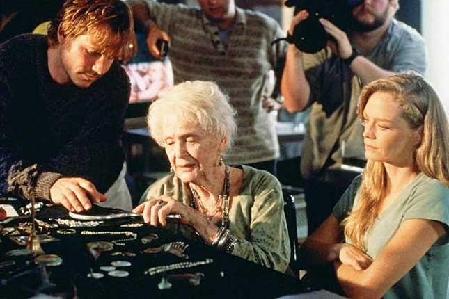 With *Titanic* co-stars Bill Paxton and Gloria Stuart.