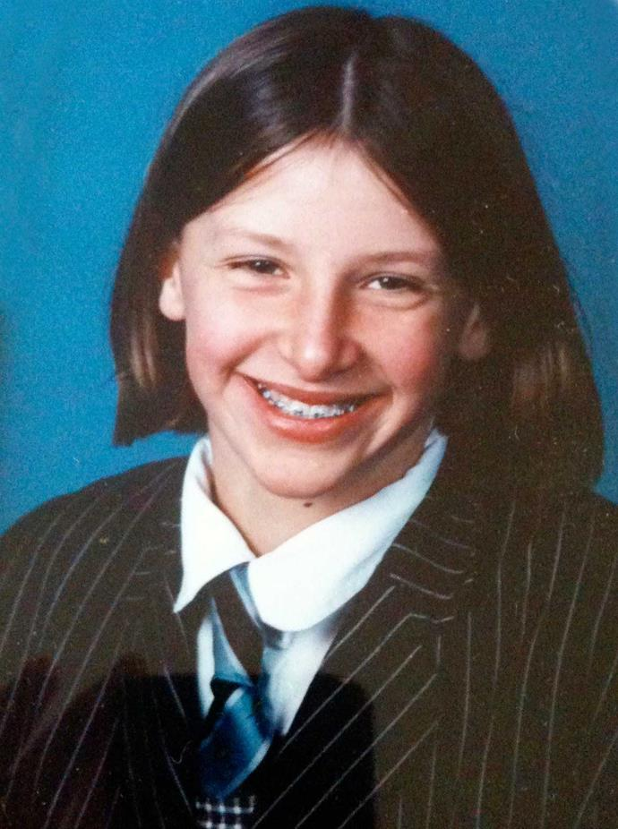 It's been a long journey from confused schoolgirl (pictured, aged 11) to becoming the glamorous Hugo Grrrl.