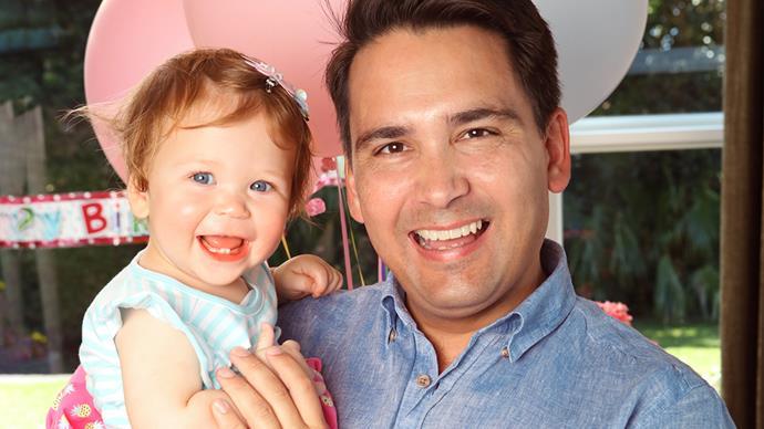 Simon Bridges and daughter Jemima