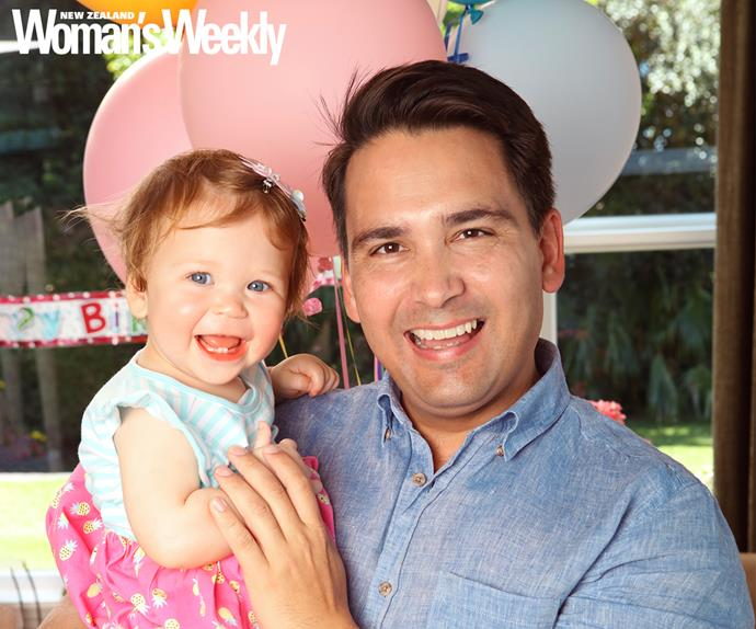 Simon Bridges and daughter Jemima
