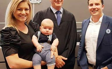 """It's a super special day"": Toni Street and Matt France have legally adopted their son Lachlan"