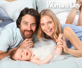 Siobhan Marshall and Millen Baird with baby Remy