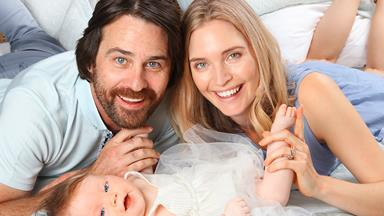 Siobhan Marshall and Millen Baird introduce their precious baby Remy