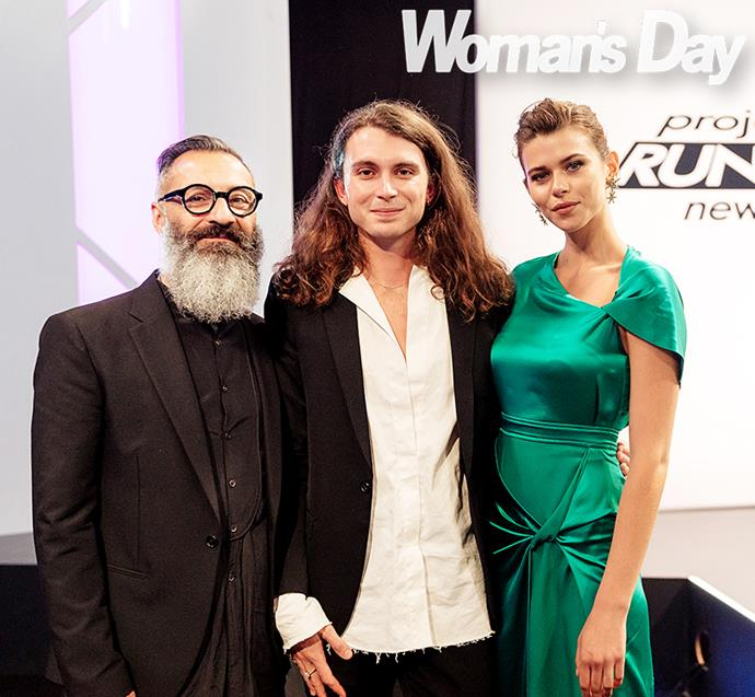 With host and mentor of *Project Runway NZ* Andreas Mikellis and Georgia Fowler