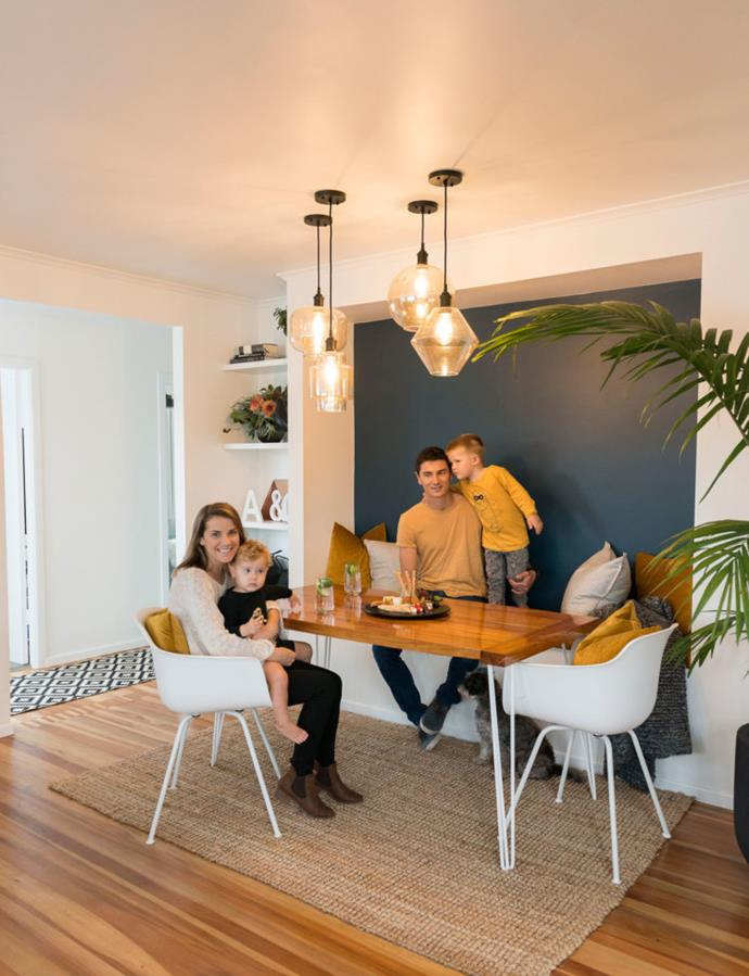 Alice recommends diverting money to beautiful lighting and you'll need fewer decor items.  The living room light cluster cost $756 and makes the dining nook a special space.