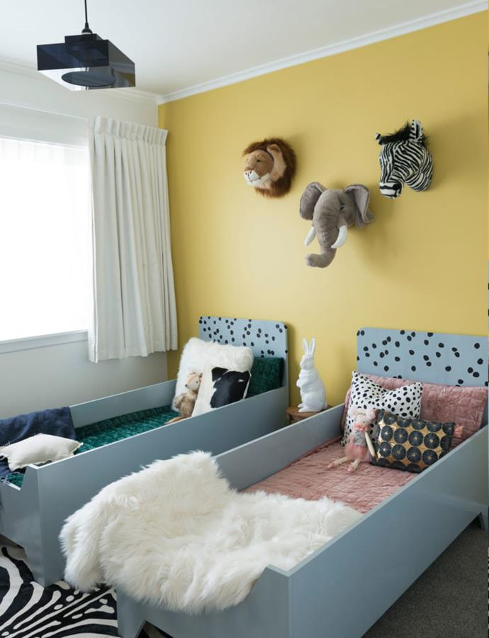 Alek and Mika share a room, leaving the third bedroom free to be a playroom.