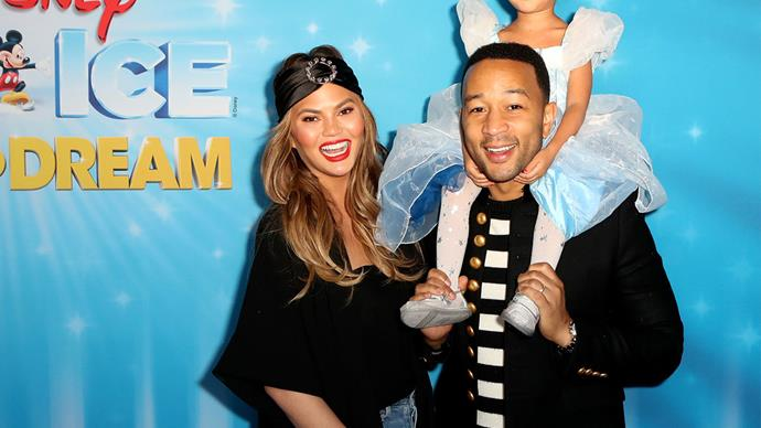 Chrissy Teigen has a genius way of making her daughter eat her dinner