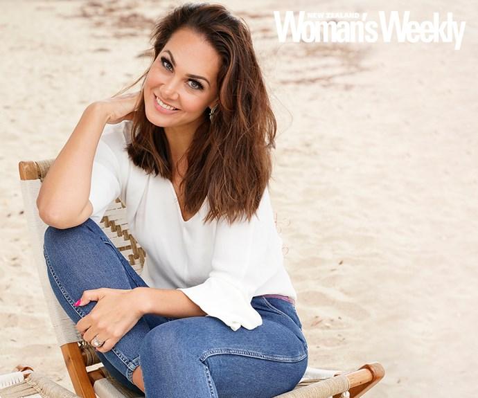 Renee Wright on beach chair