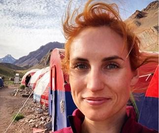 Samantha Hayes climbing Mt Aconcagua Andes