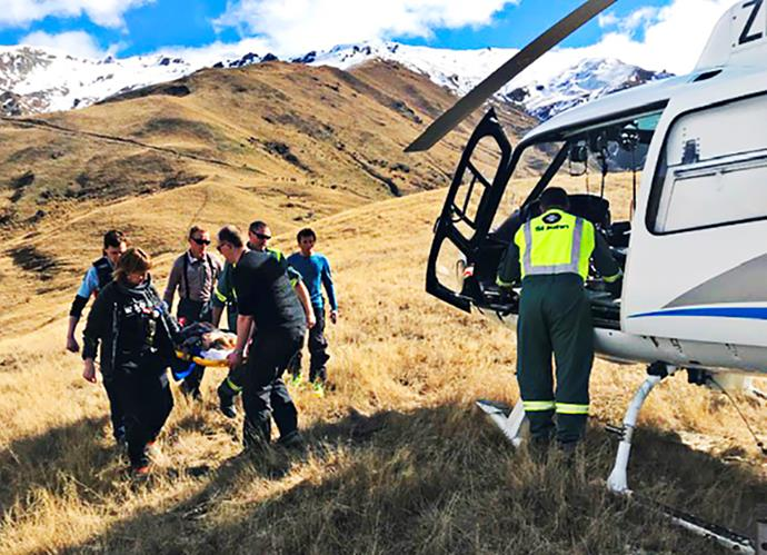 One of Hannah's few memories of the accident is being taken to hospital in a rescue helicopter.