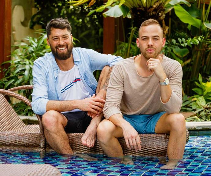 Sam and Tayler on their honeymoon in Bali.