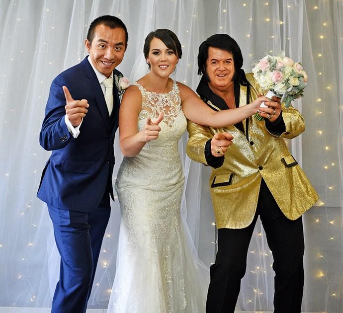 The pair were married by 'Elvis' in Las Vegas
