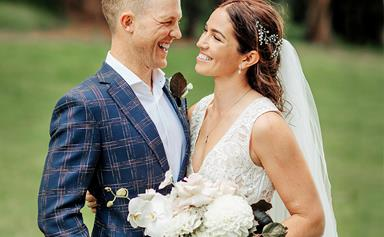 Olympian Sarah Walker's relaxed and unique Cambridge wedding