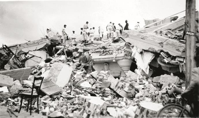 The 7.8 magnitude earthquake reduced buildings in both Hastings and Napier to rubble and claimed 256 lives.