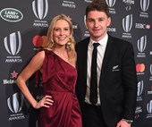 The stunning first official photo from Beauden Barrett and Hannah Laity's wedding