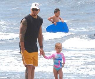 All Black Sonny Bill Williams daughter Imaan beach