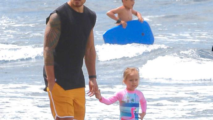 All Black Sonny Bill Williams daughter Imaan beach