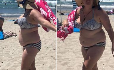 A Kiwi woman shames the bullies who laughed at her 'bikini body' at the beach - and she is our hero