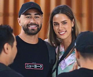 Shaun Johnson and Kayla Cullen's emotional farewell as Shaun moves overseas for league