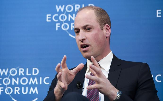 William is attending the World Economic Forum to discuss a number of topics including climate change. *Image: Getty*