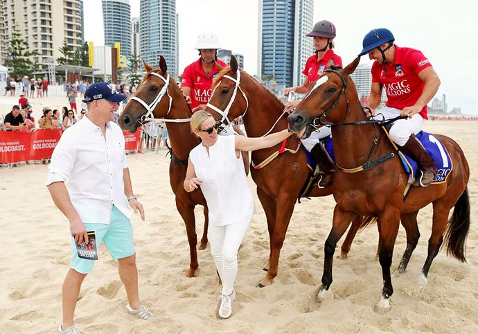 Zara and Mike were in Australia promoting women's involvement in horse racing. *Image:Getty*