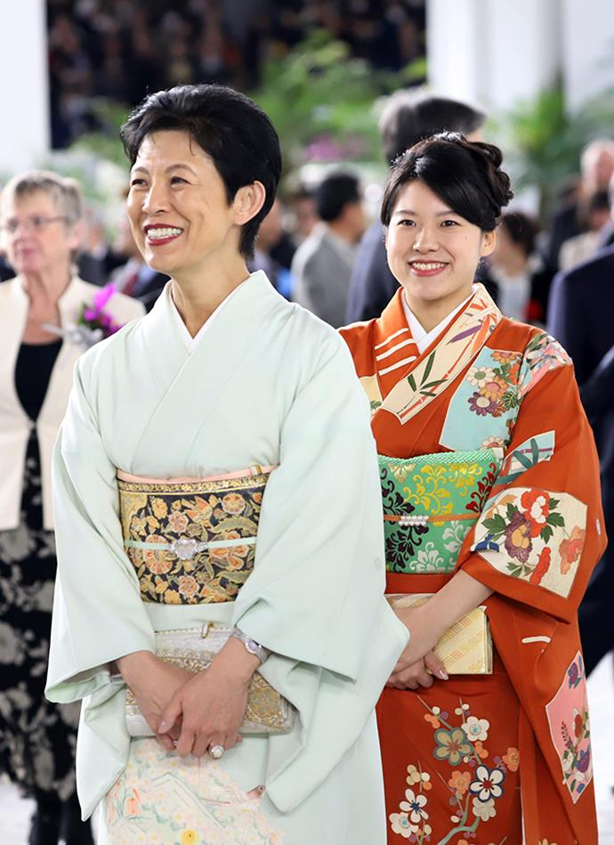 Ayako with her mother, Princess Takamado.