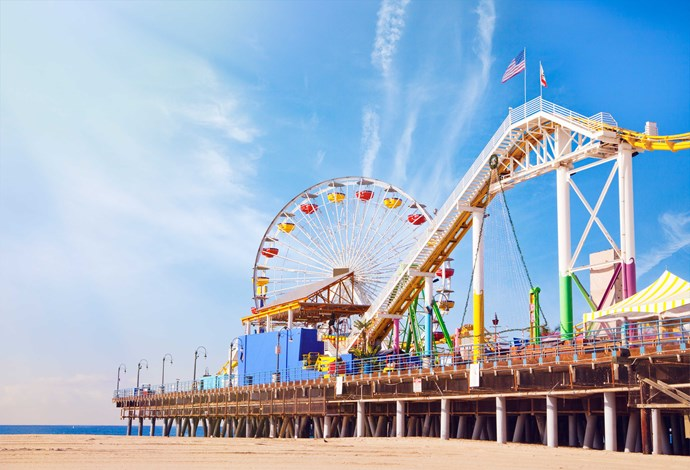 The famous fairground on Santa Monica Pier.