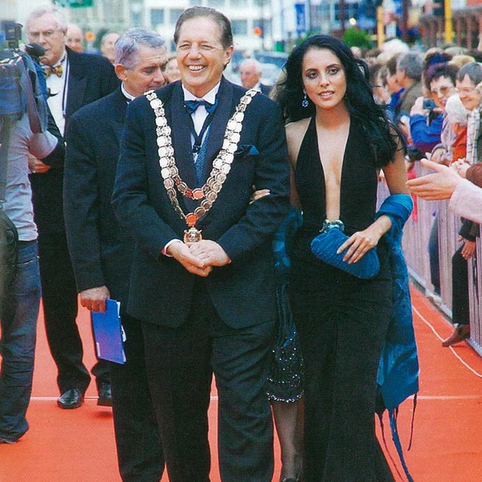 Sir Tim Shadbolt with partner Asha