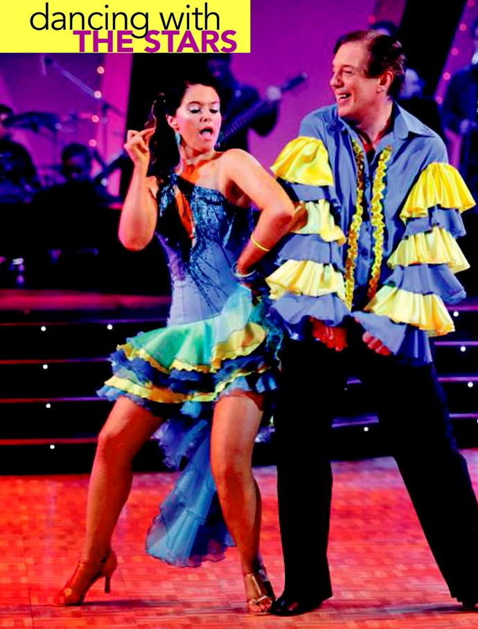 Strutting his stuff with Dancing with the Stars partner Rebecca Nicholson.