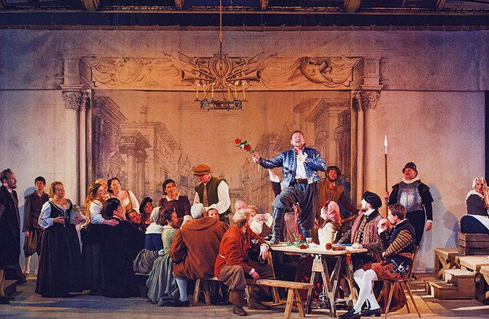 Shaun performs in La Boheme.