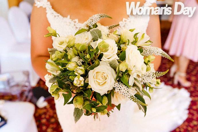 Greer's bouquet was made by Wellington florists Table Flower.
