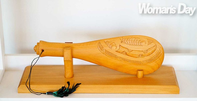 The Youth Unit at Hawke's Bay Regional Prison gifted this patu to their mentor.