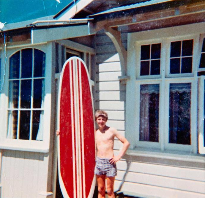 After getting a surfboard as a youngster, Barry was hooked and even wagged school to ride the waves.