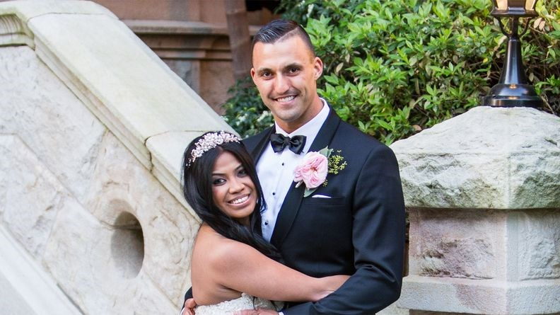 Nic and his new bride Cyrell.