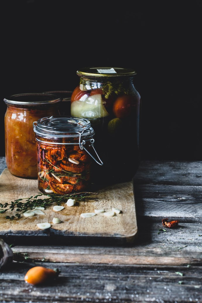 To build healthy gut bacteria, increase small amounts of fermented foods like kimchi, sauerkraut and tempeh. *(Source: Getty)*
