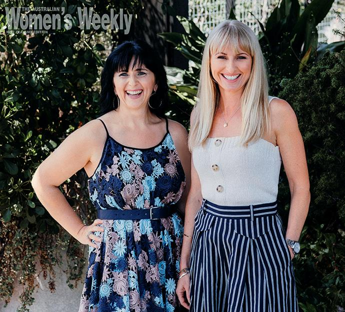 Kelly Banks (left) and her friend Janine Williams (right) gave up corporate careers to run their online service.
