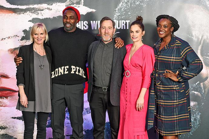 Hermione (with Idris Elba, Michael Smiley, Ruth Wilson and Wunmi Mosaku) is over the moon to be joining the cast of Luther as Dr Vivien Lake. *Iamge: Getty Images*