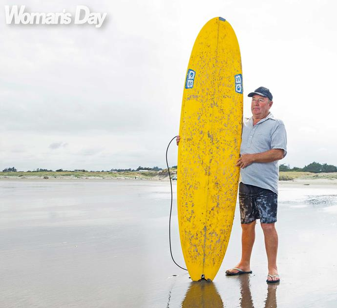 """Barry went on to surf overseas, just never again in Dunedin. """"I was too scared,"""" he admits."""