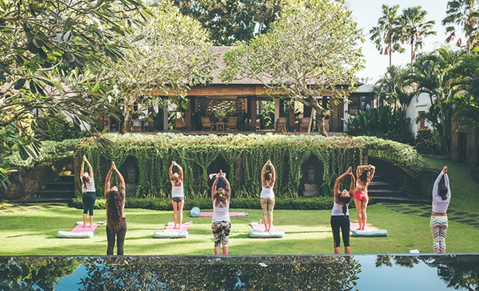 Yoga sessions at Escape Haven help guests tap into Bali's spirituality.