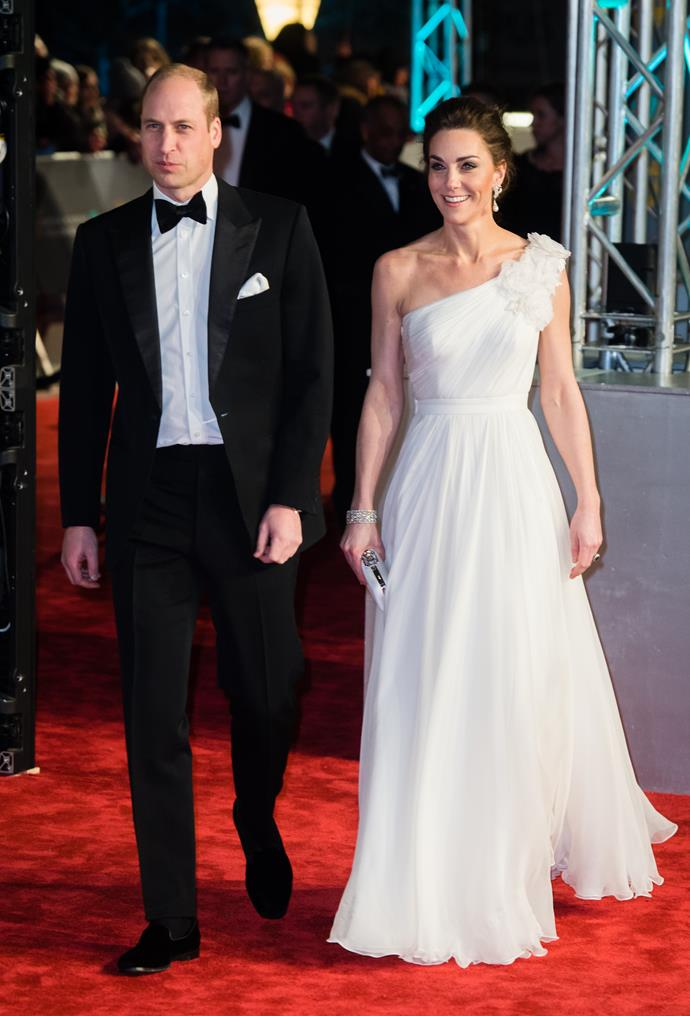 The Duke and Duchess of Cambridge wowed crowds as they walked the red carpet at the 2019 BAFTA awards. *(Image: Getty)*