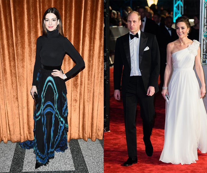 Anne Hathaway Kate Middleton Prince William